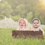 6 month boy girl twin session in Madisonville, LA