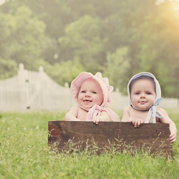 William and Caroline 6 month twin session (Madisonville Baby Photographer)