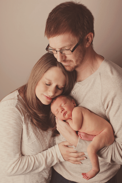 Family of 3 newborn session