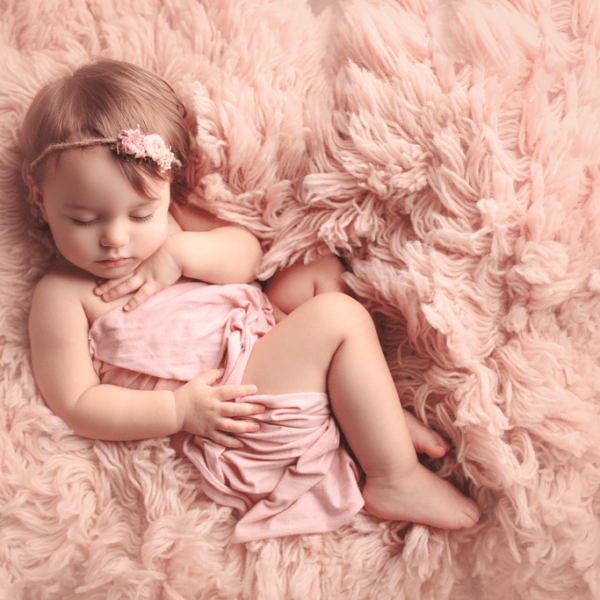 Toddler posed like newborn {New Orleans Children's Photographer}
