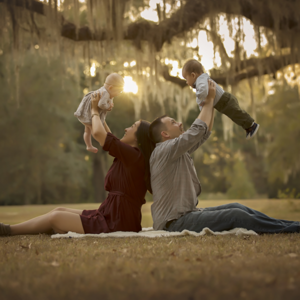 Roman and Olivia 6 months {Madisonville Family Photographer}