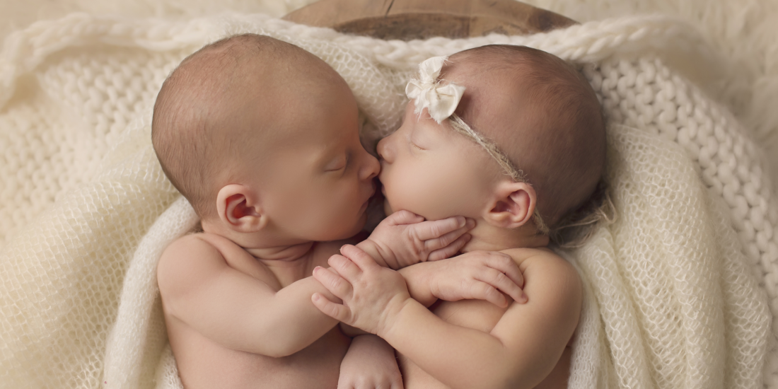 Boy girl newborn twins madisonville newborn photographer