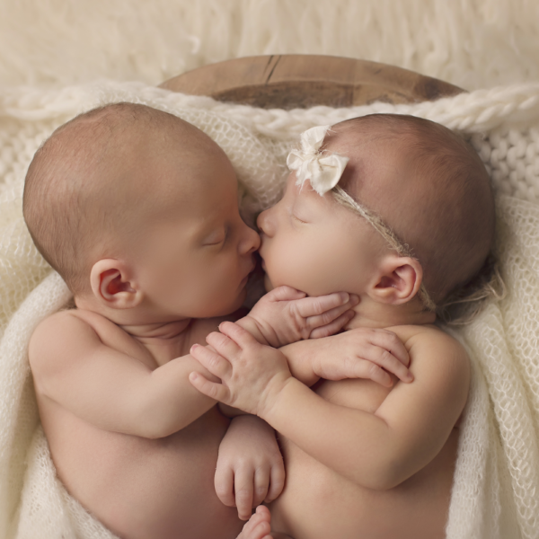 Boy/Girl Newborn Twins (Madisonville newborn photographer)
