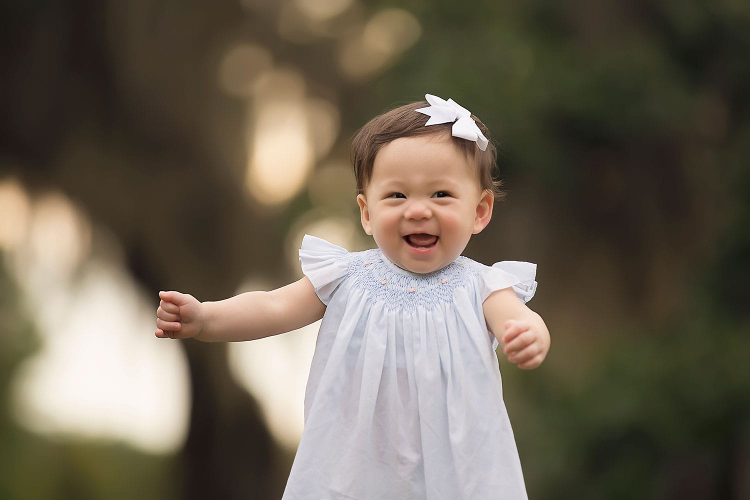 smiling baby girl by Annie Whitaker Photography