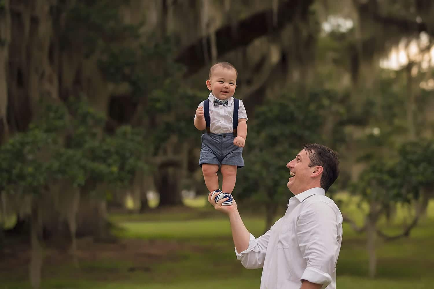 Dad and baby boy by Annie Whitaker Photography
