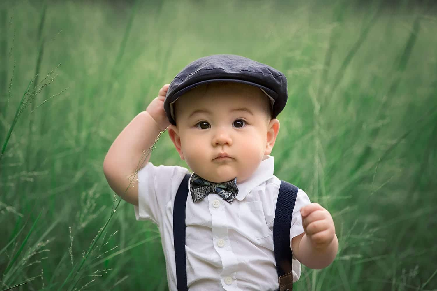 One year old baby boy by annie whitaker photography