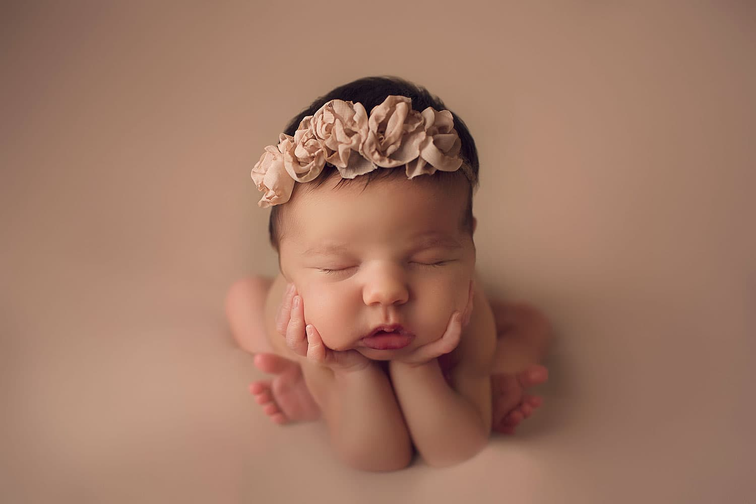 baby girl with rosy lips by Annie Whitaker Photography