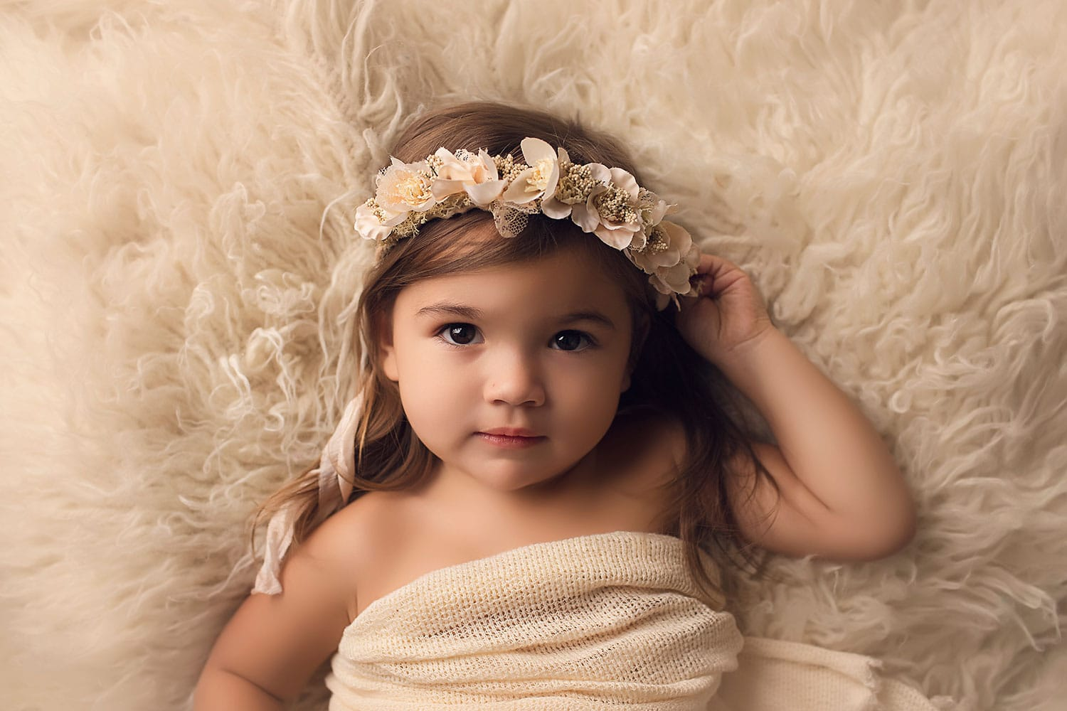Stunning photo of two year old by Annie Whitaker Photography