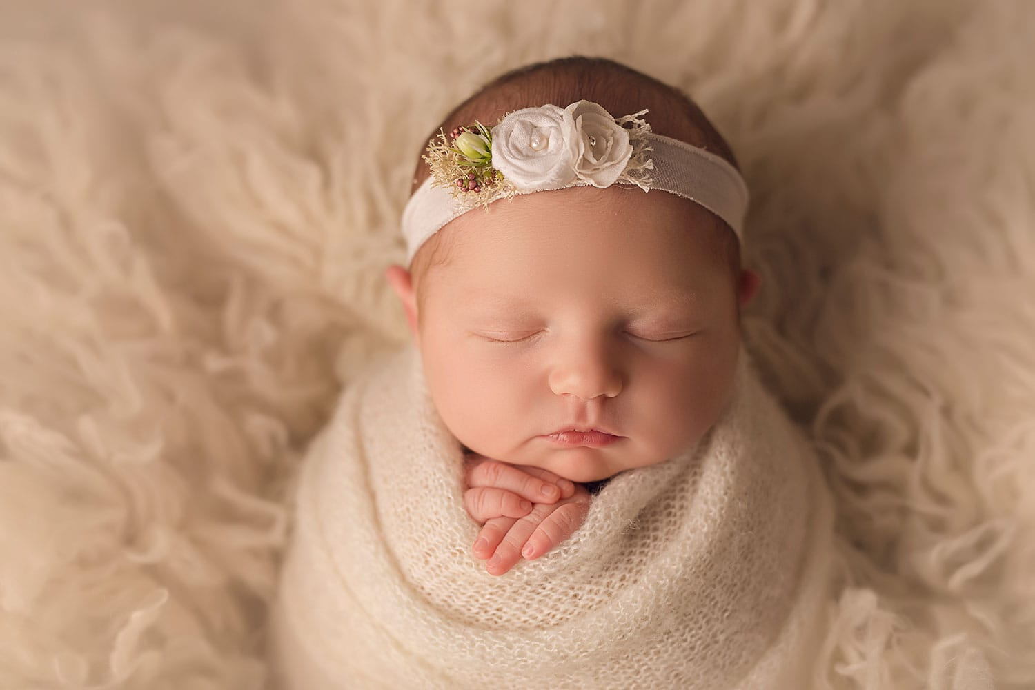 bundled up baby girl by Annie Whitaker Photography
