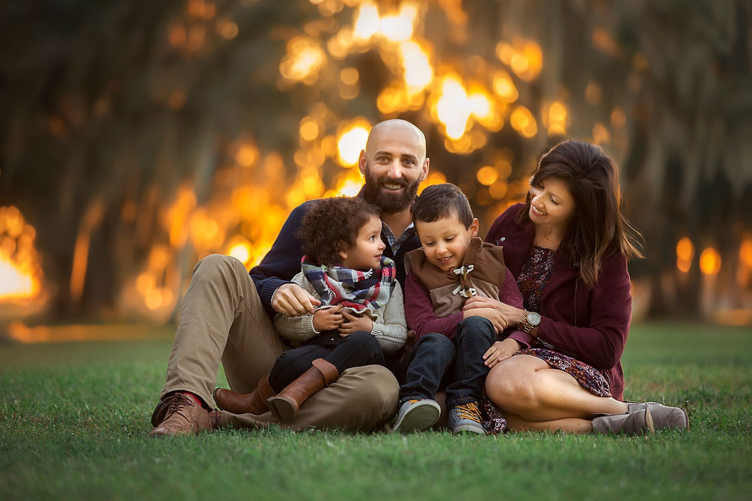 Family session at Fontainebleau State Park by Annie Whitaker Photography