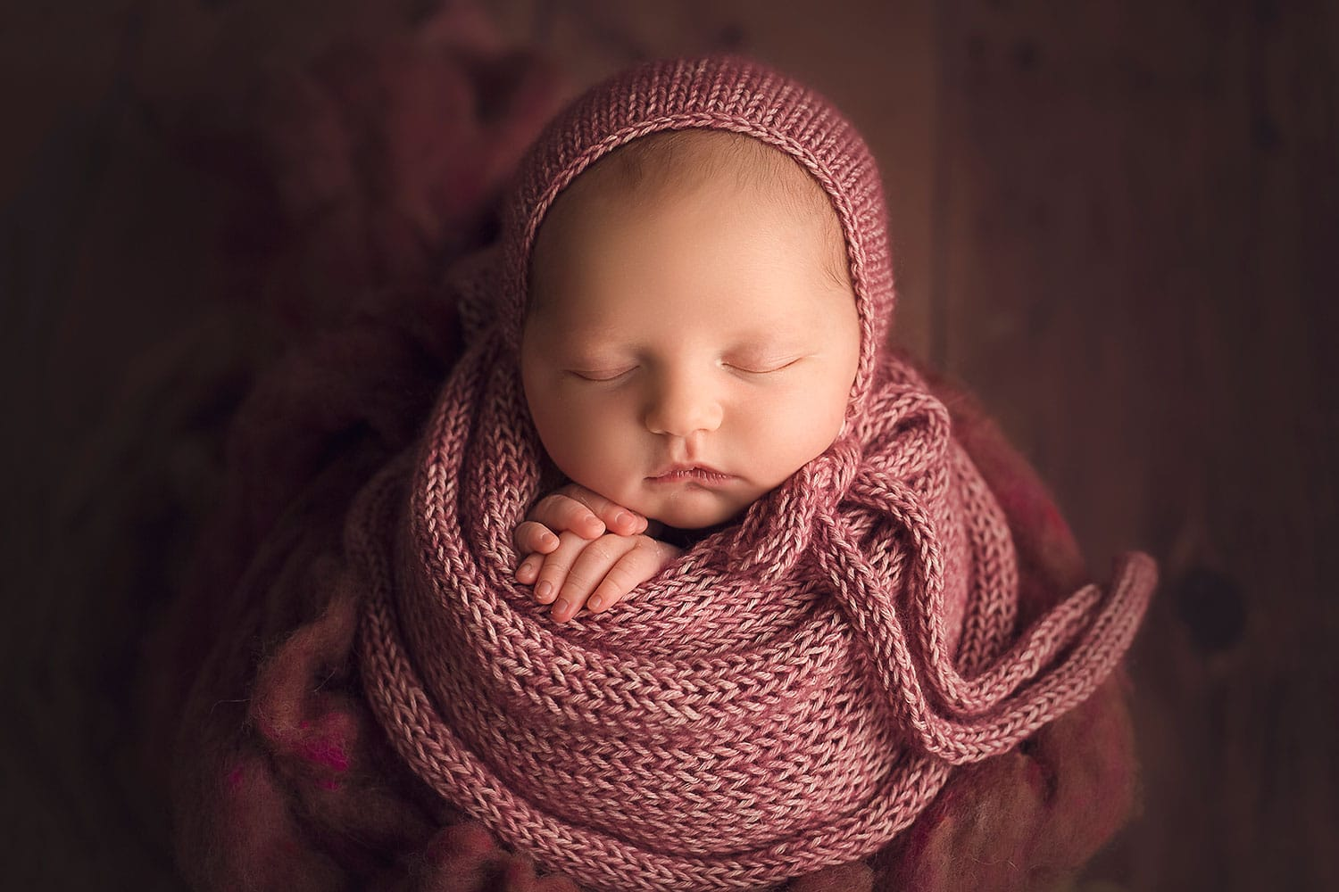 Cranberry newborn set up by Annie Whitaker Photography
