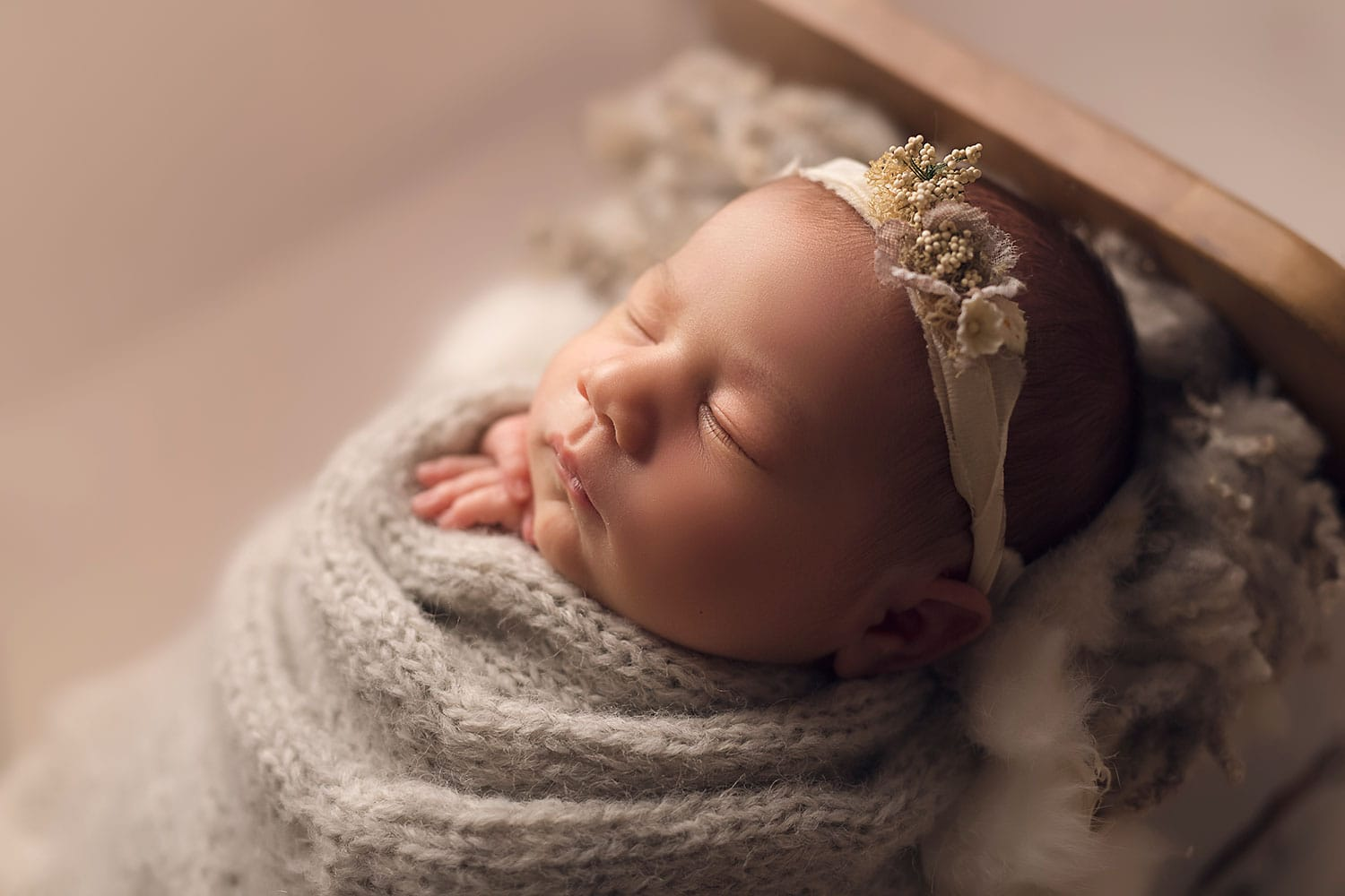 infant girl profile picture by Annie Whitaker Photography