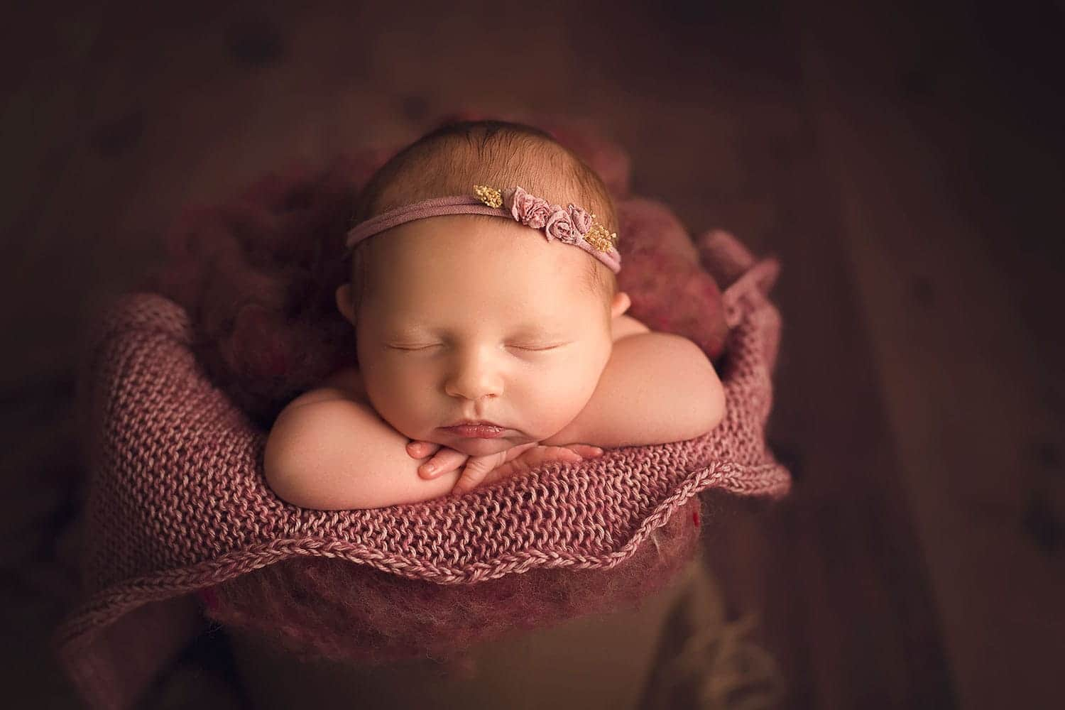 Gorgeous newborn baby girl by Annie Whitaker Photography