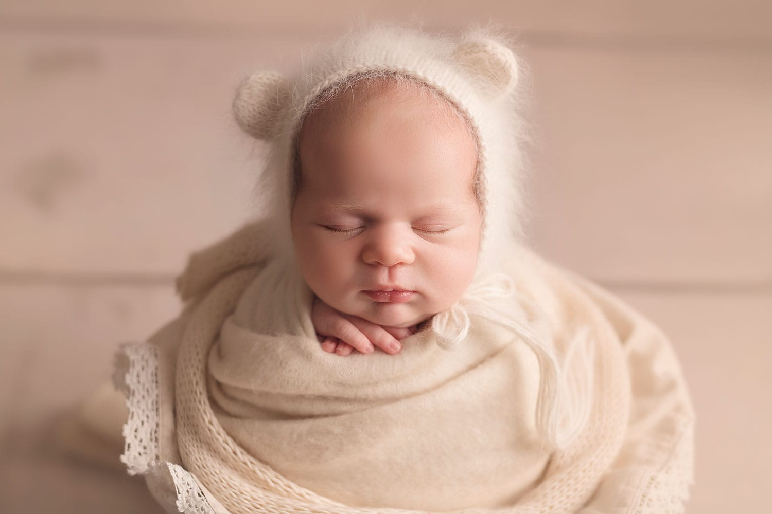 baby in bear bonnet
