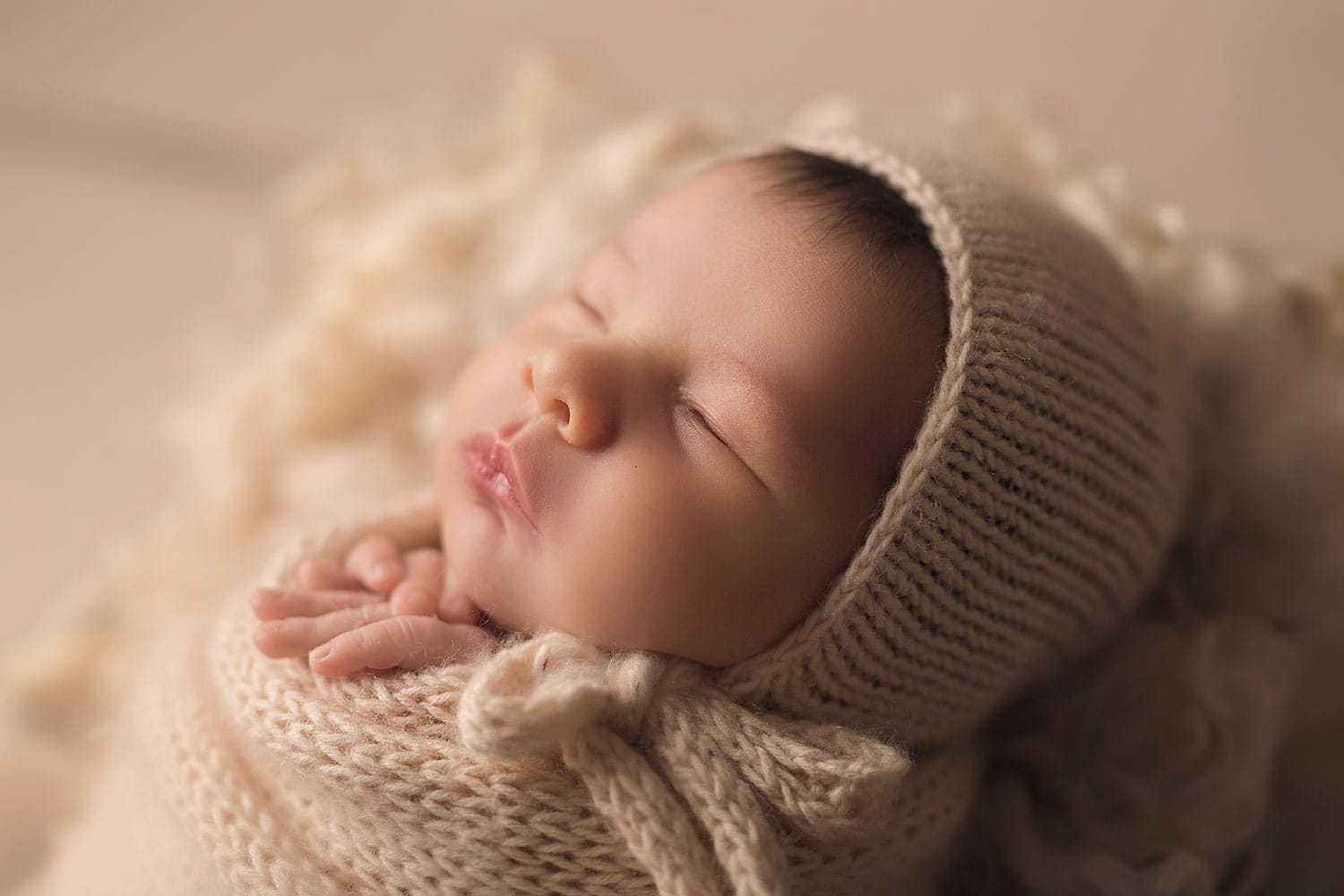 sweet newborn profile by Annie Whitaker Photography