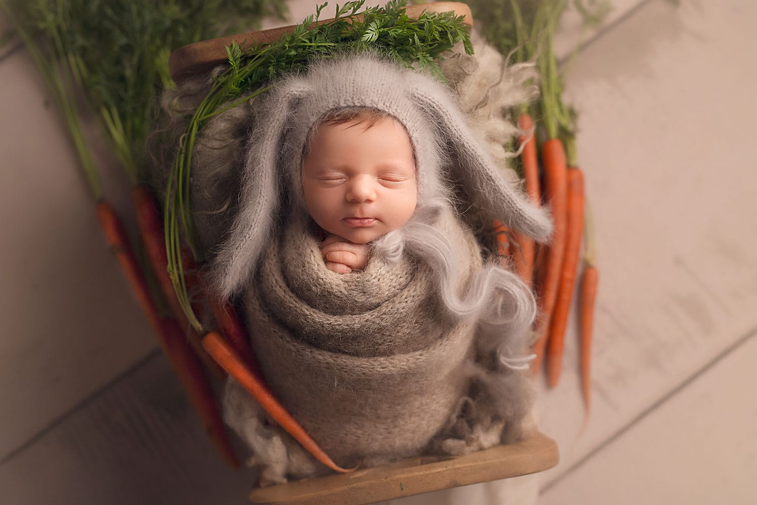 Easter Newborn Set up by Annie Whitaker pHotography