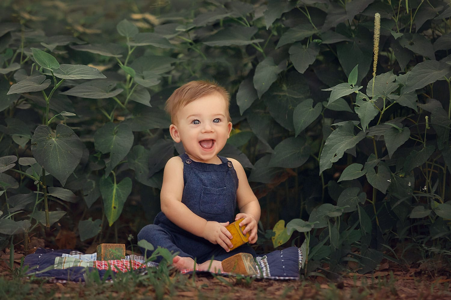 baby boy at Fontainebleau State Park by Annie Whitaker Photography