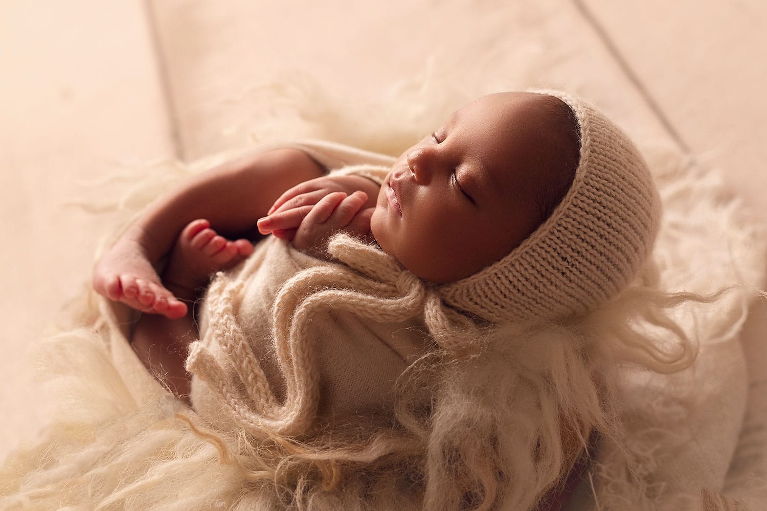 Fine art newborn photography by Annie Whitaker Photography