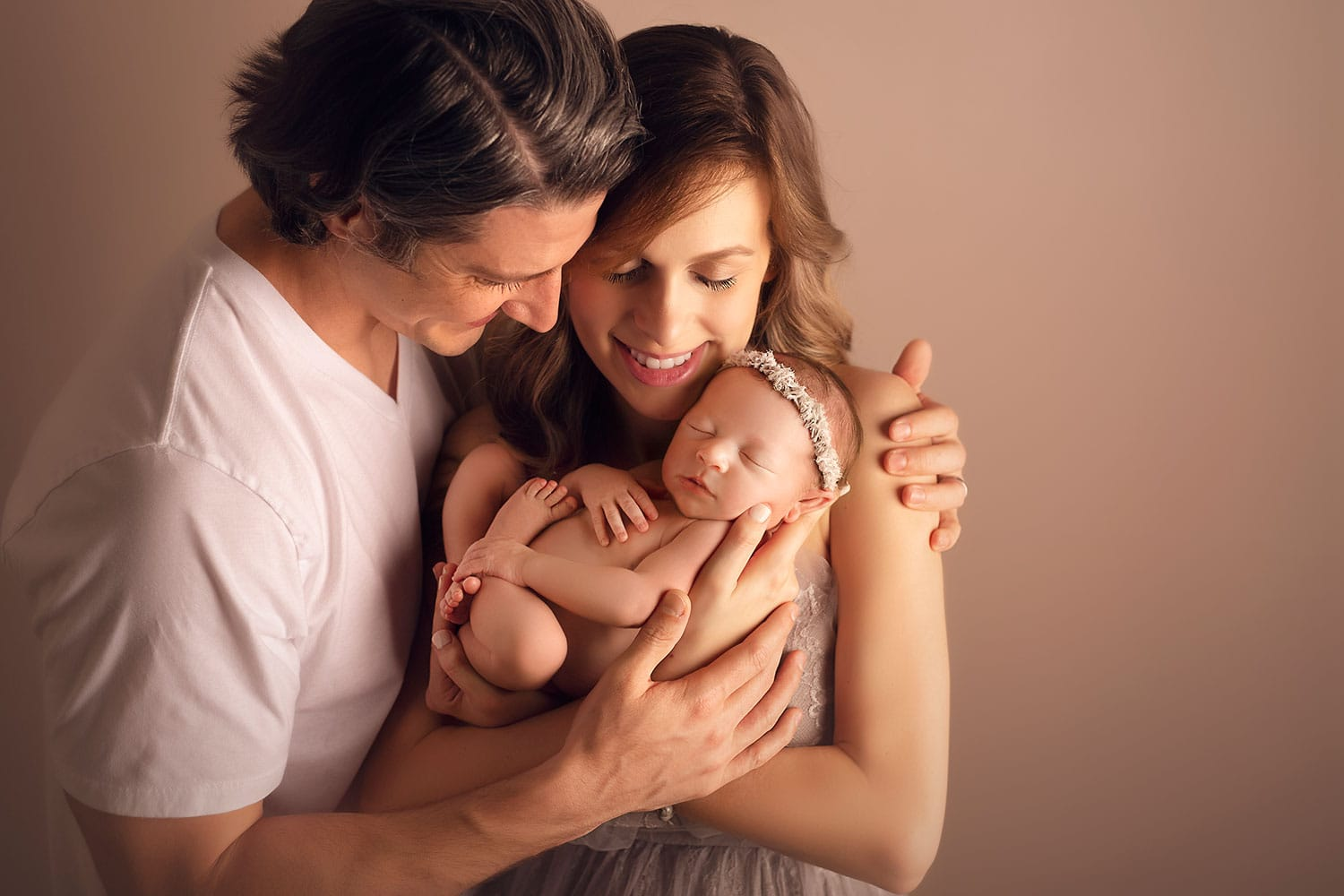 beautiful family of three by Annie Whitaker Photography