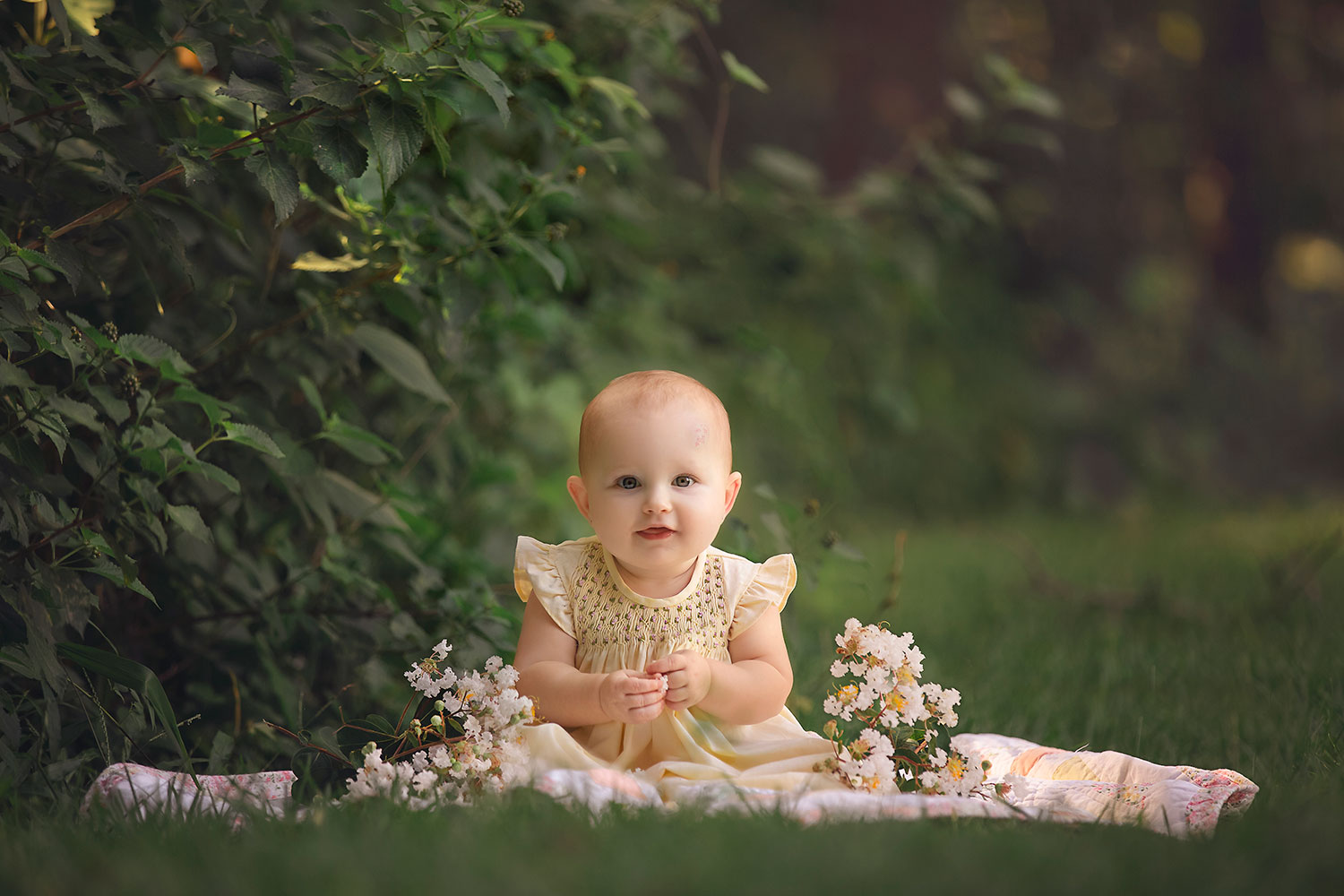 Precious baby girl's 9 month session by Annie Whitaker Photography