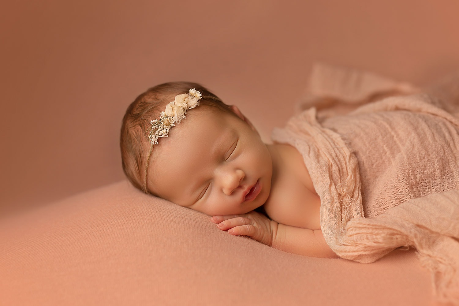 sleeping newborn girl by Annie Whitaker Photography
