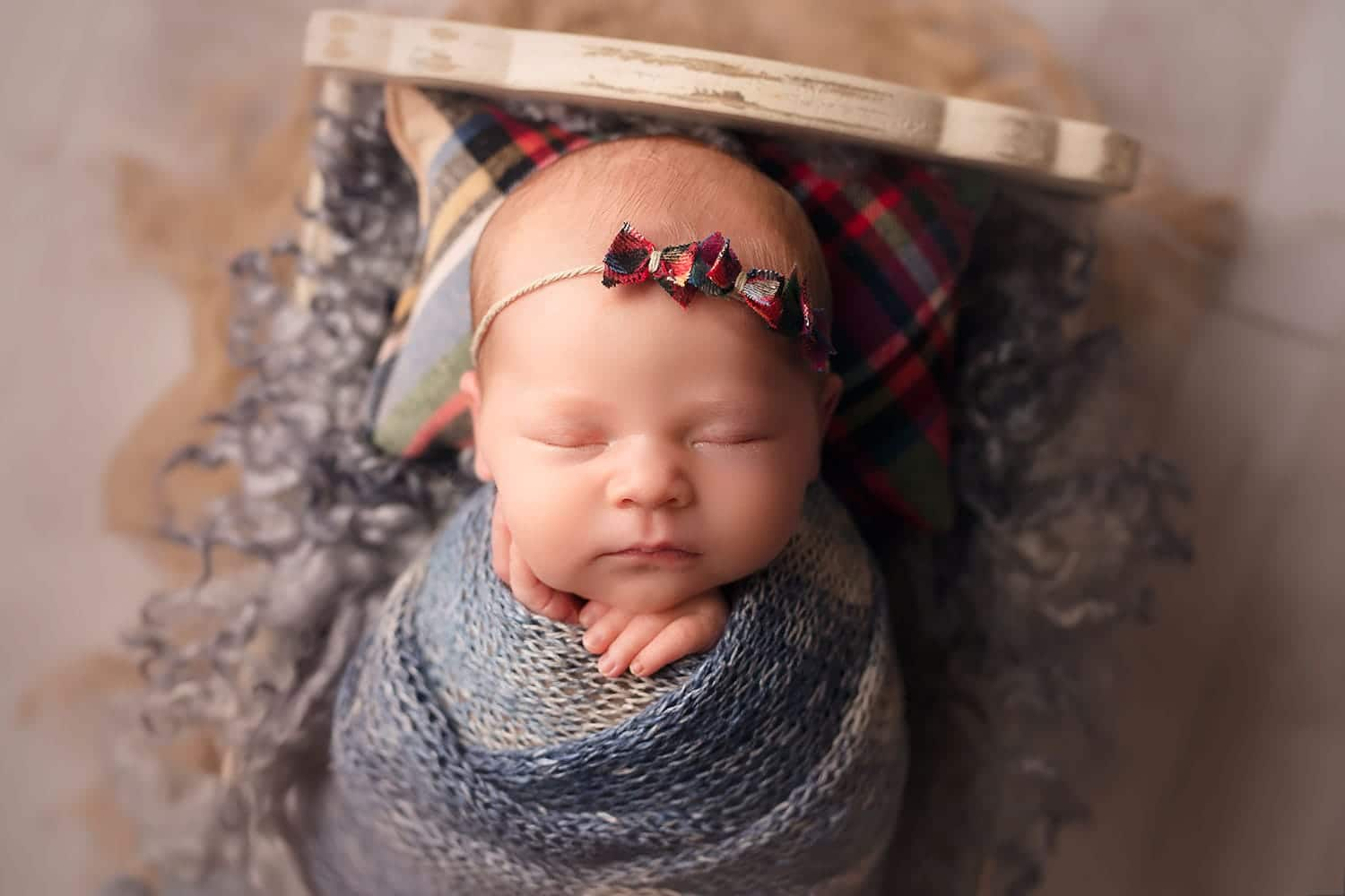Beautiful holiday set up on newborn girl by Annie Whitaker Photography