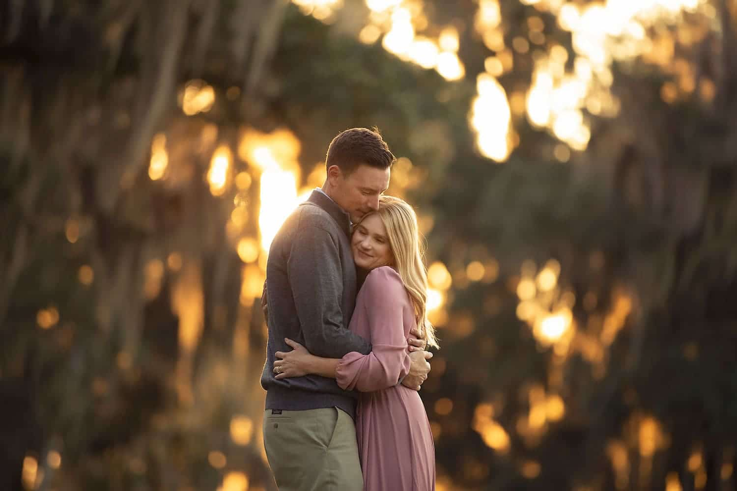 Husband and wife at sunset by Annie Whitaker Photography