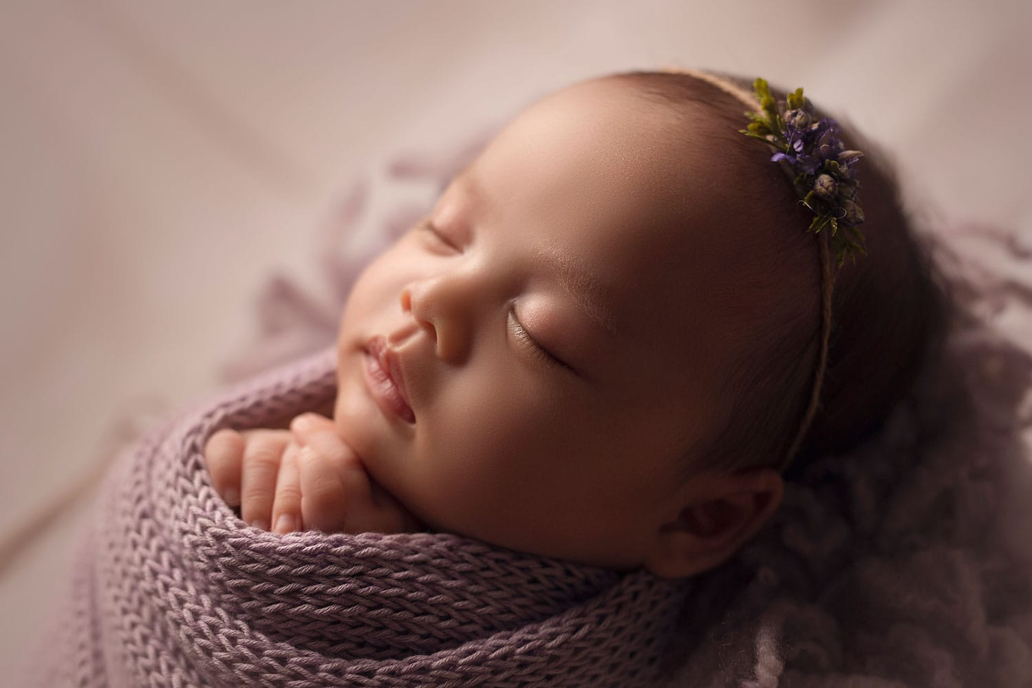 Profile photo of newborn girl by Annie Whitaker Photography