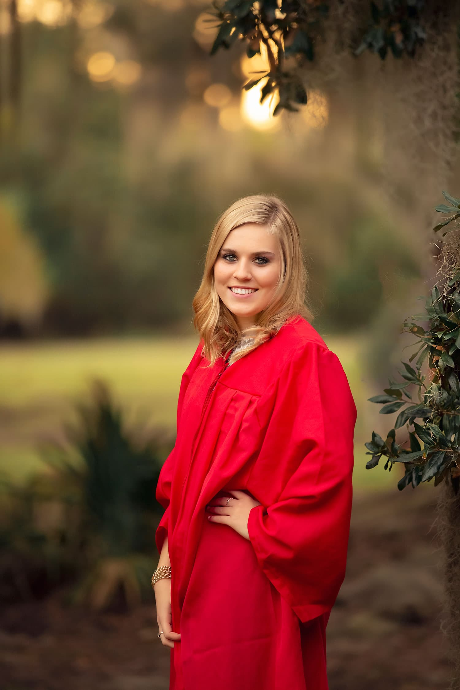 Senior photo session at Fontainebleau State Park