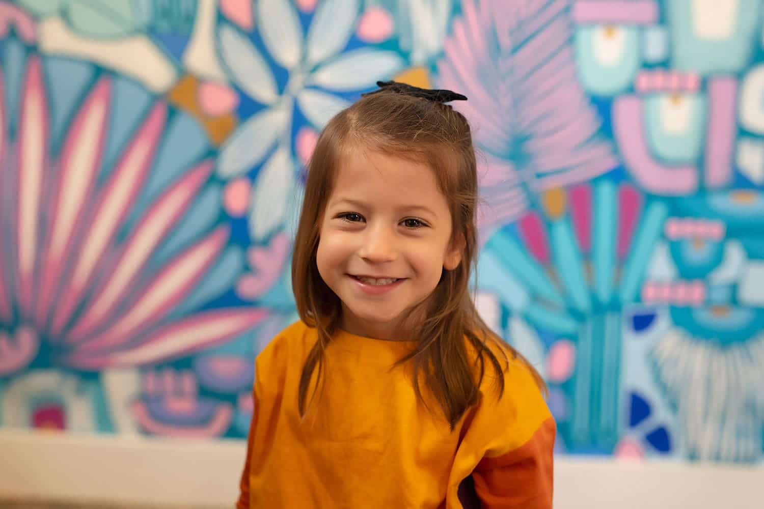 4 year old girl at art studio by Annie Whitaker Photography