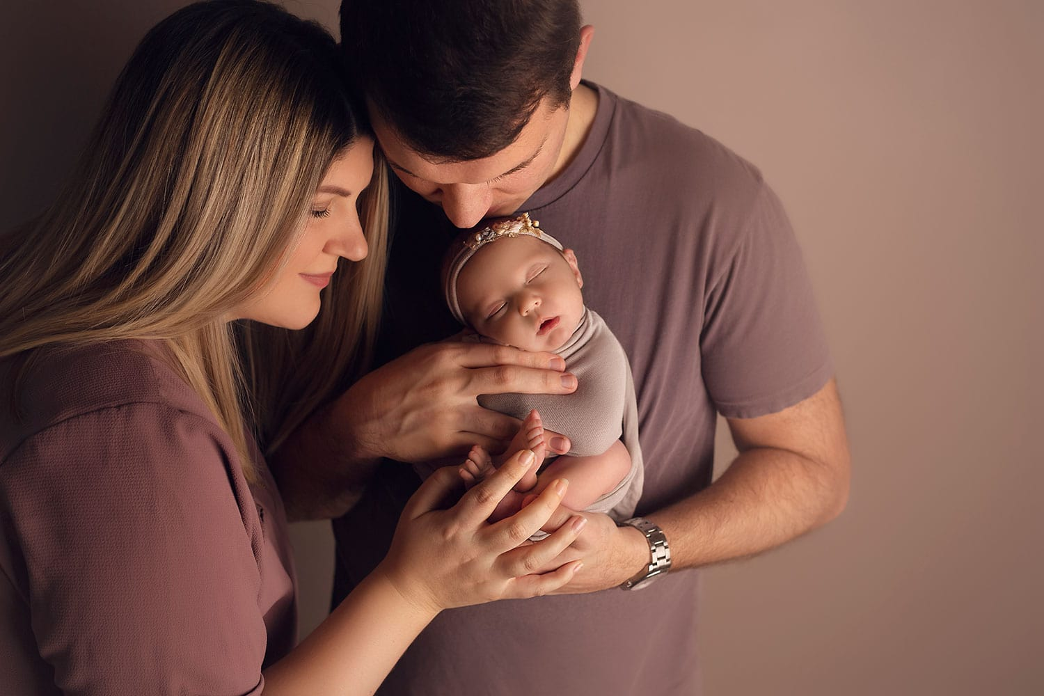 First family photo with newborn by Annie Whitaker Photography