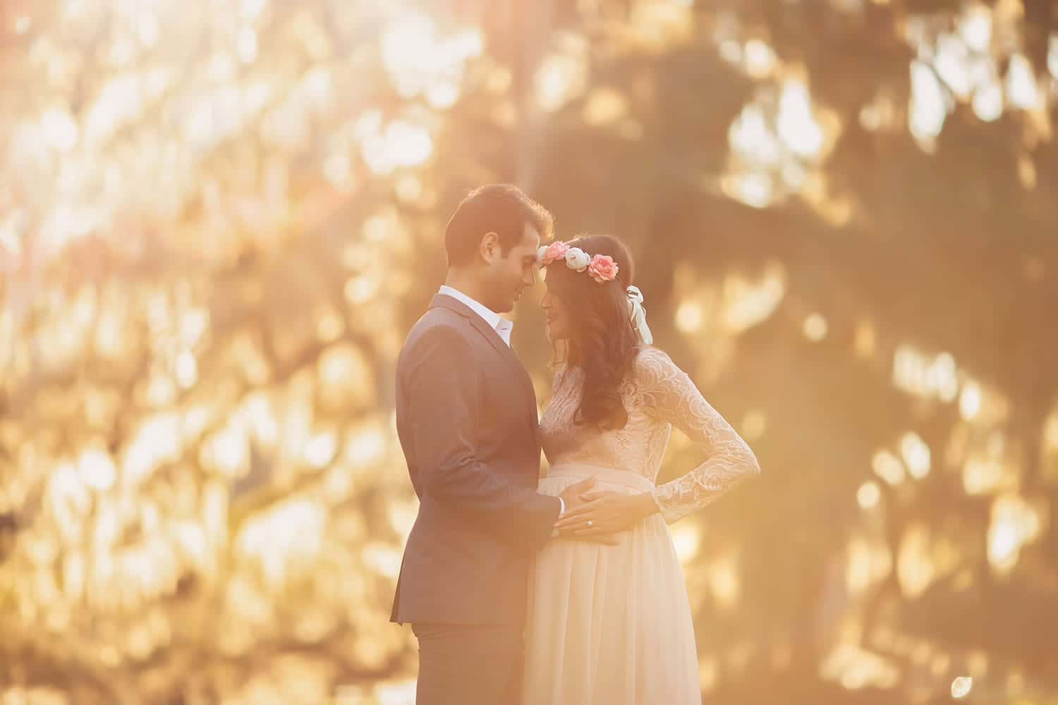 maternity session in mandeville la at sunset with mother in blush gown