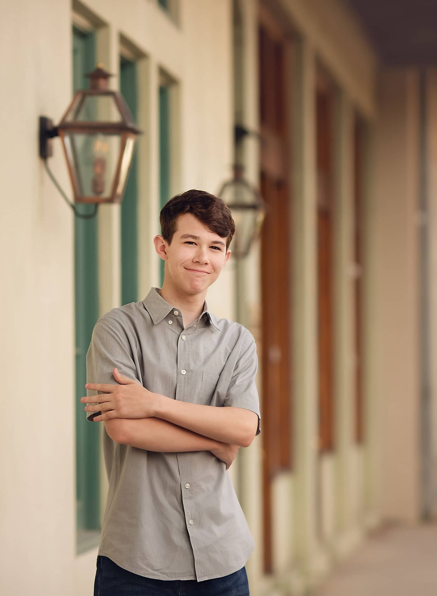 Teen session in downtown covington