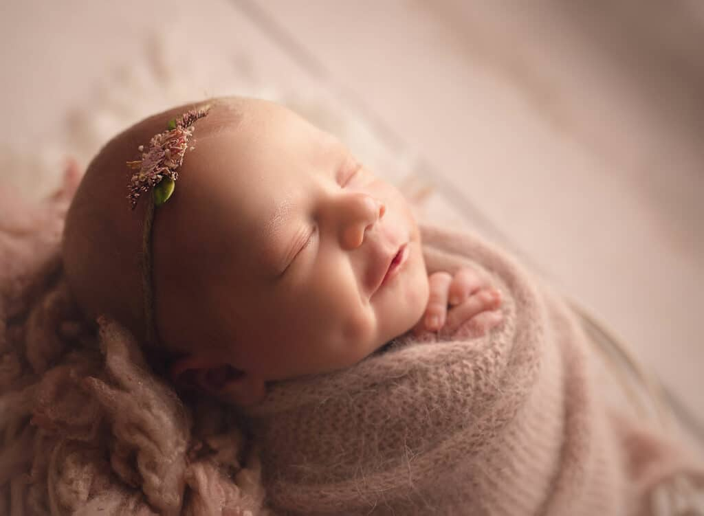 profile photo of smiling newborn