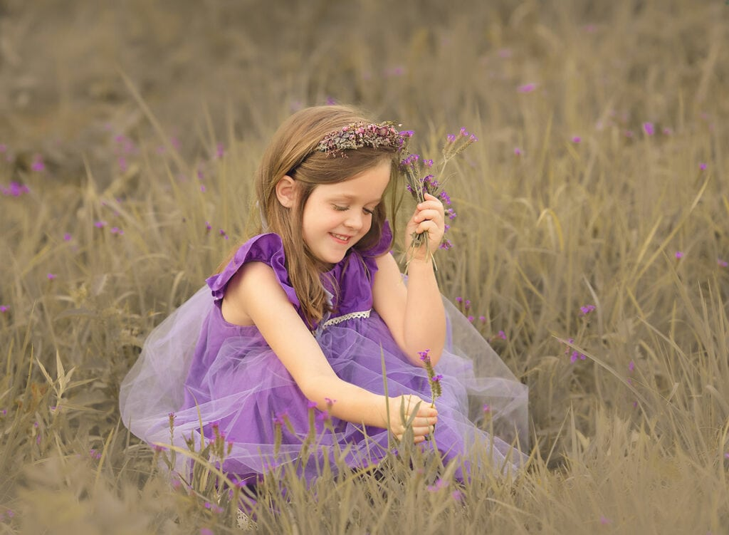 wildflower photo session