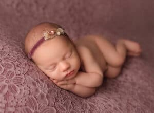 perfect newborn side lying pose