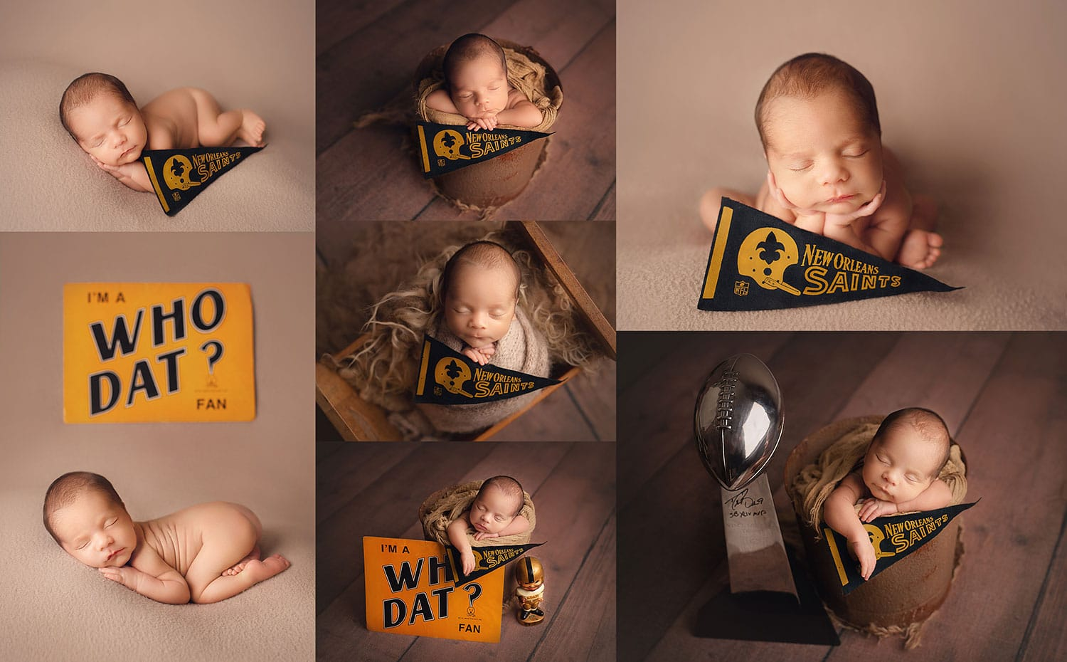 New Orleans Saints newborn session