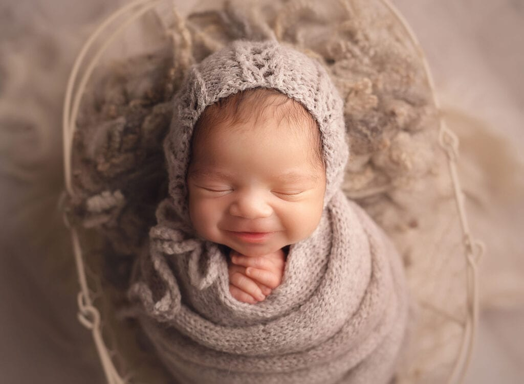 perfect wrapped newborn