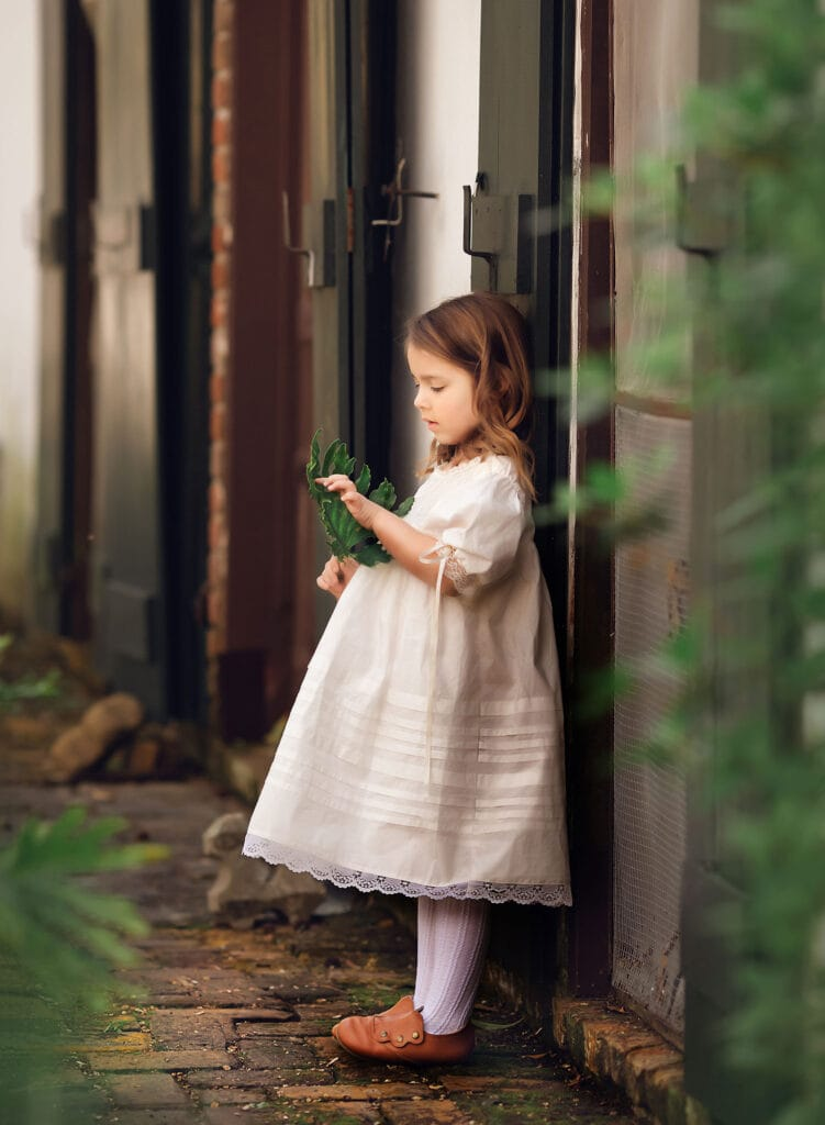 Fine Art Photograph of a girl in vintage dress