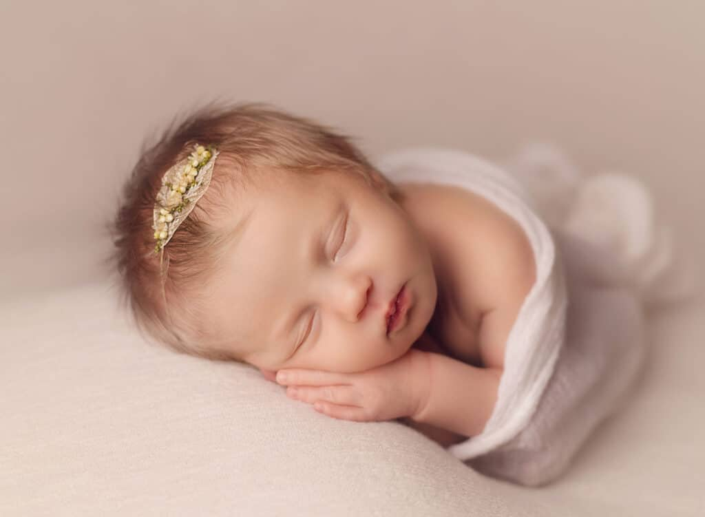 blond haired newborn