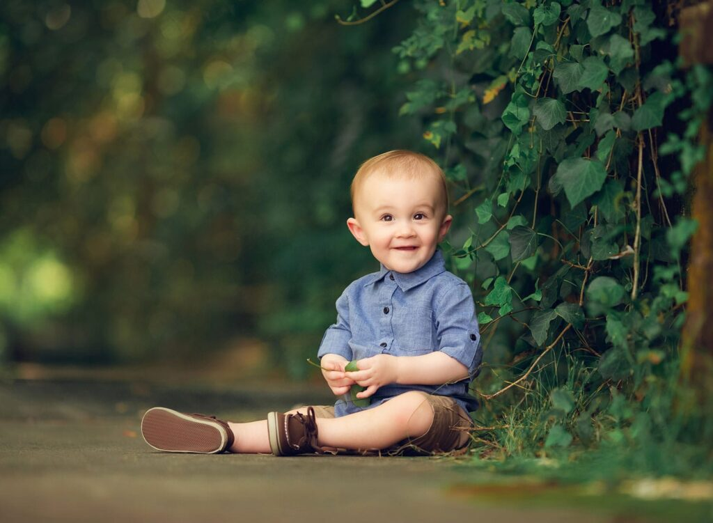 Fine art photo of one year old boy
