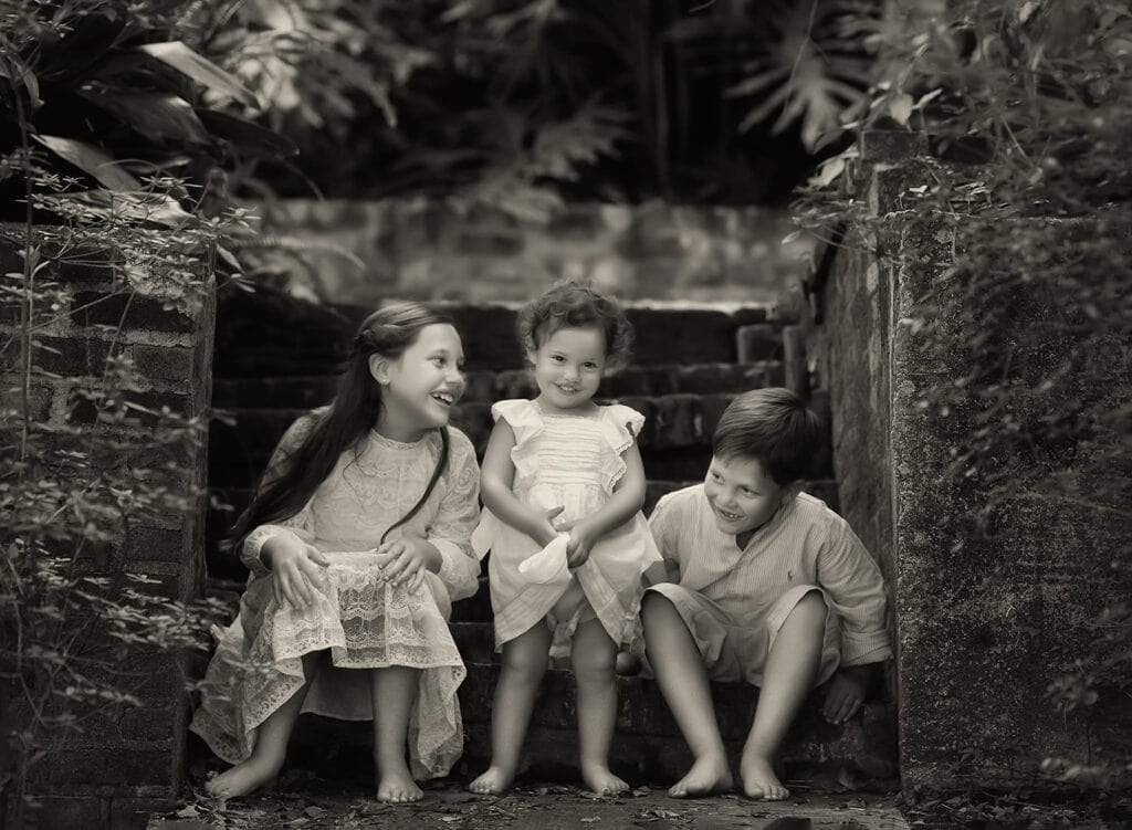 three beautiful children