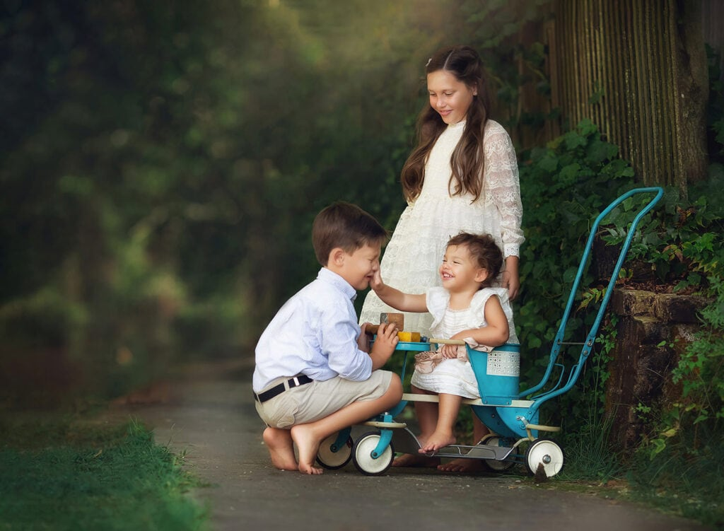 fine art photo with vintage stroller