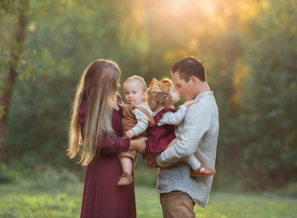beautiful family of four